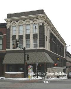 Miller Shoe Store, 800 East Broadway, courtesy the City of Columbia