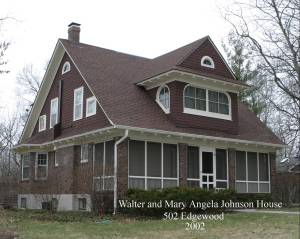 Walter Johnson Home, 502 Edgewood, photo courtesy of Historic Preservation Commission and FitzImages Photography