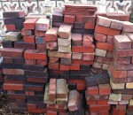 Bricks and tile from Edwards Brick, later called Columbia Brick and Tile.