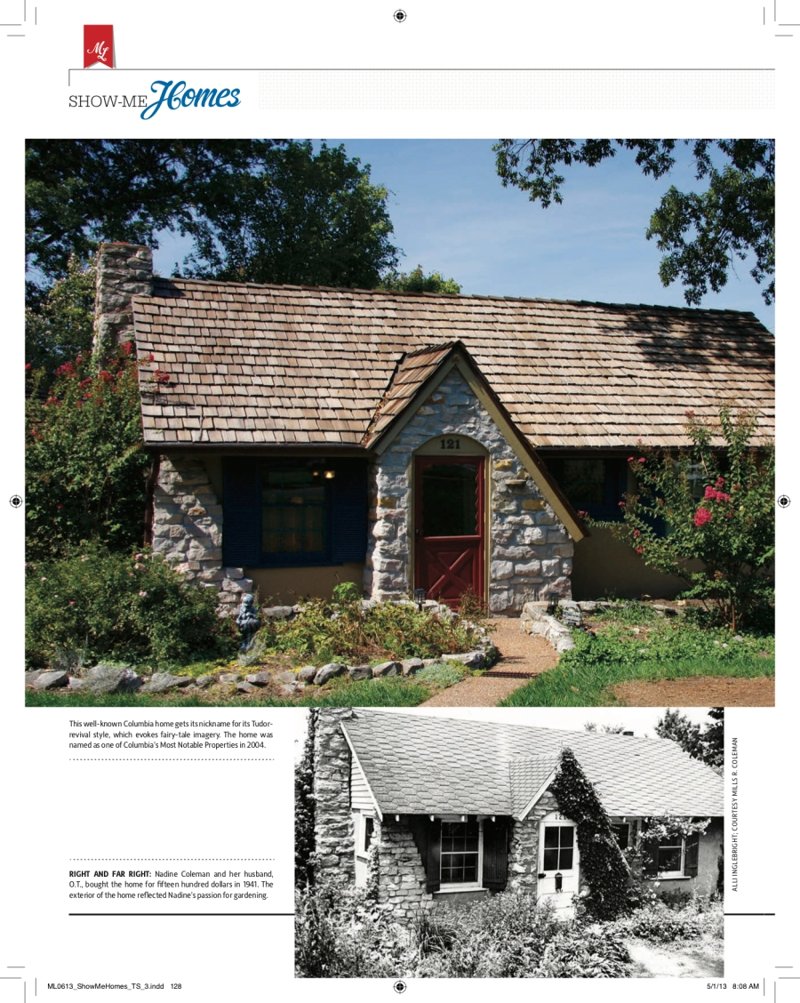 Photos of 121 West Blvd. North, published 2013 in Missouri Life magazine