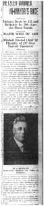 W.J. Hetzler elected mayor of Columbia, Missouri, per March 9, 1927 Columbia Daily Tribune.